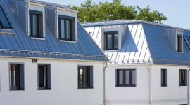 Wohnanlage in München in Deutschland mit Roofinox Classic Dach