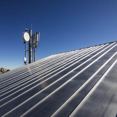 Doppelstehfalzdach aus Roofinox Classic der Nebelhornbahn in Deutschland