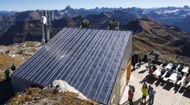 Nebelhornbahn mit Blechdach aus Roofinox Classic Oberfläche aus HFX Edelstahl