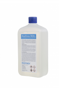 Roofinox ROEL ist ein Reininungsöl für Edelstahl und Maschinen. Das Öl reinigt Maschinen, Handwerkszeug und Roofinox Oberflächen.