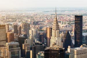 Chrysler Building Wolkenkratzer Edelstahl Dach