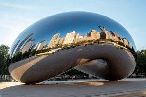 Chicago Bean aus Edelstahl