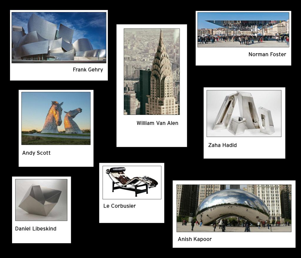 berühmte edelstahl Architektur
