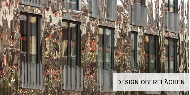 Edelstahl Oberflächen für die Fassade