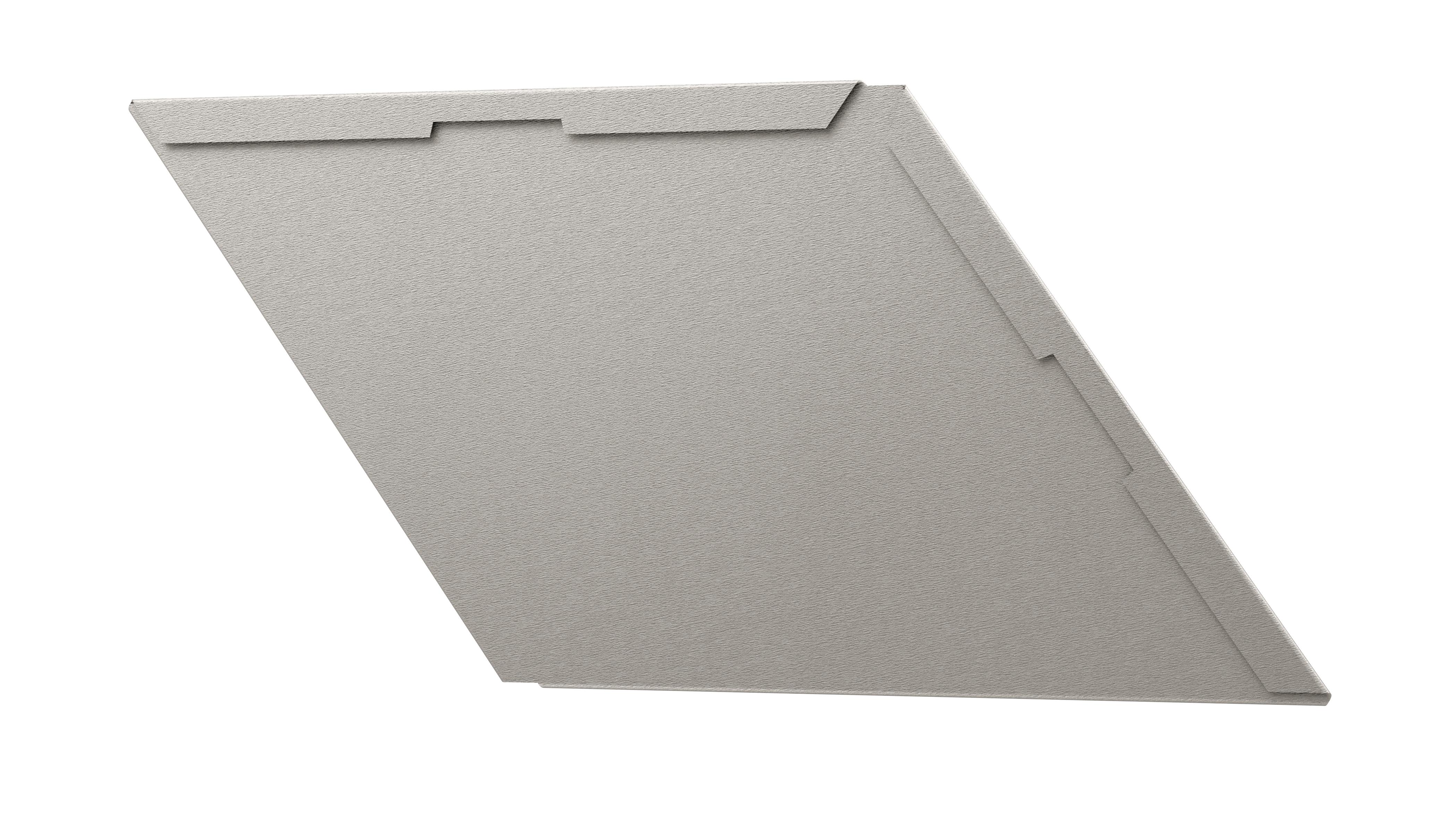 Rhombusschindel für die Fassade in grau, farbig, silber