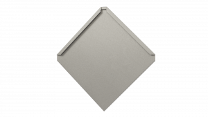 Quadratschindel Tratan aus HFX Edelstahl (Groß)