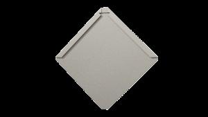 Quadratschindel mit abgeflachter Ecke aus Edelstahl