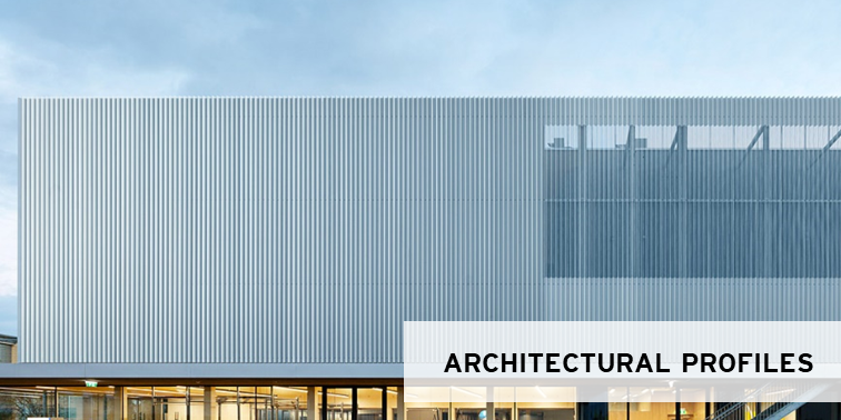 architectural profiles for roof and facade
