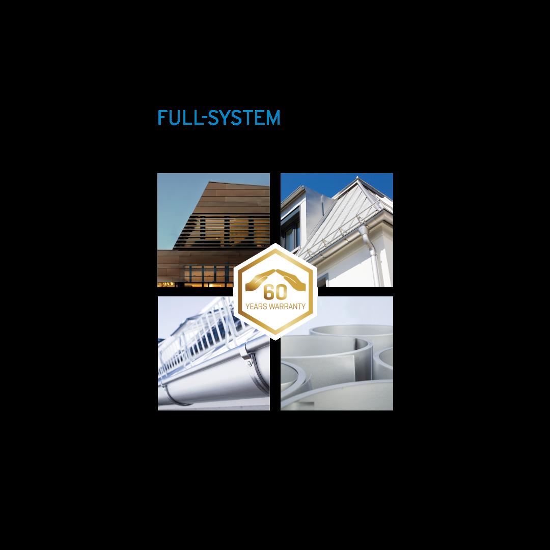 Komplettsystem für Dach udn FAssade aus HFX Edelstahl
